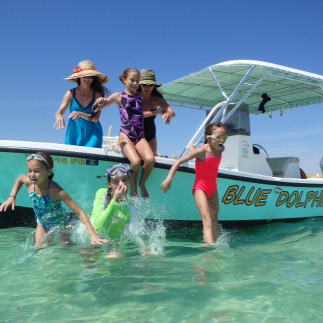 see dolphins from our tour boats in Panama City Beach, Florida