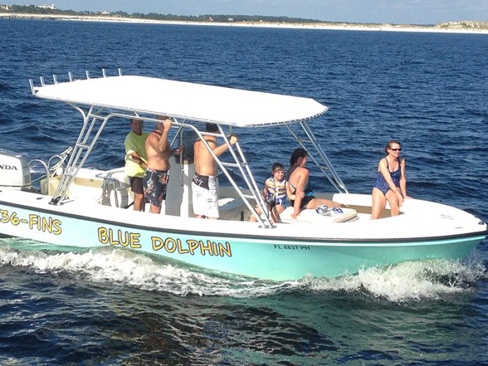 One of our PCB snorkeling tour boats