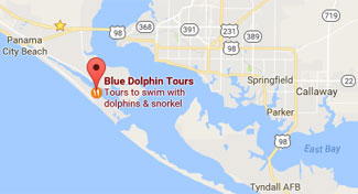A small map to our Panama City Beach FL location